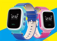gps gps relógio de pulso venda por atacado-Relógio do telefone inteligente crianças kid relógio de pulso cor gsm gprs localizador gps tracker anti-perdida smartwatch criança guarda para android q60
