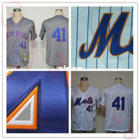Wholesale China Toms - 30 Teams- 2015 New Arrival 41 Tom Seaver jersey New York Mets Baseball Jerseys Customized gray cheap Authentic sport best buy direct china