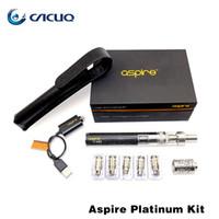Wholesale E Cig Ups - Aspire Platinum Kit Made Up With 2ml Aspire Atlantis 2000mah Aspire CF Sub Ohm Battery Original Platinum Kit ECig E Cig
