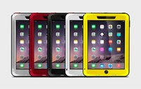 protector de vidrio para ipad air al por mayor-Original Love Mei resistente a los golpes a prueba de agua Hybrid Powerful Case Cover para Apple iPad Air 2 Temperd Glass Protector de pantalla