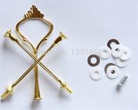 stab steht großhandel-50 sätze / los 3 Tier Kuchen Steht Platte Griff Montage Silber gold Hochzeit Crown Rod