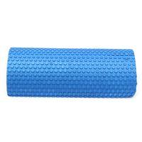 Wholesale Yoga Foam Rollers - Wholesale-Hot selling Blue Yoga Blocks EVA foam Yoga roller Pilates Fitness Half Round Foam Roller With Massage Floating Point 30cm