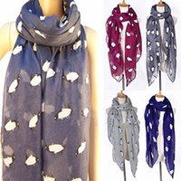 Buquê macio Pashmina Shawl Wrap Print Pinguim Animal Stole Neck Warm Womens Voile Scarves Wholesale Drop