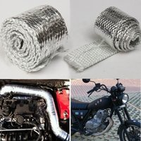 Wholesale Thermal Wrap Headers - 1M MOTORCYCLE EXHAUST HEADER TURBO PIPE THERMAL HEAT WRAP TAPE INTAKE MANIFOLD order<$15 no tracking