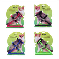 Tipos De Gatos Baratos-Pet Cat Collar Tipo Cat Leads Belt Cat Harness Harness Adjustable Productos para mascotas 1 * 1.2 cm de alta calidad CYF76