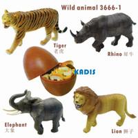 Wholesale Wholesale Elephant Plastic Toys - Wholesale-lion tiger elephant wild animal puzzles 4pcs 3D puzzle 3666-1 educational toy KADIS plastic animal model toys