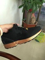 Wholesale Shoes Zx - 2017 NEW ARRIVE ZX FLUX men women sports casual shoes black gold zx flux size eur 36-45 free shipping high quality