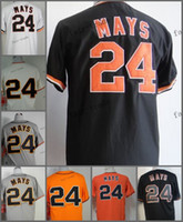 Wholesale Free San Francisco - san francisco #24 willie mays 2015 Baseball Jersey Cheap Rugby Jerseys Authentic Stitched Free Shipping Size 48-56