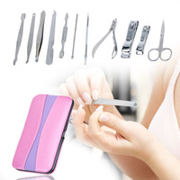 Wholesale best nail art set for sale - Group buy 12pcs Complete Nail Art Manicure Set Pedicure Nail Clippers Scissors Grooming Kit Set Manicure Best Nail Care Tools For Women