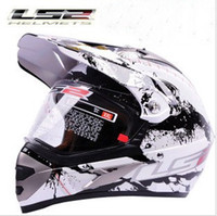 Wholesale Helmet Ls2 Mx433 - wholesale LS2 MX433 motorcross motorcycle helmet off road motorbike helmets made of ABS and White color black trembling size L XL XXL