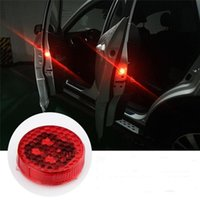 Wholesale Wholesale Vehicle Warning Lights - Car LED Door Warning Reflector, Universal Wireless Vehicle Truck Door Opened Safety Flash Light or Anti rear-end Collision