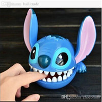 Wholesale Display Birthday Toys - Wholesale-Factory Sale 13cm Lilo & Stitch Toy Cartoon Animal Doll Bite Hand Decoration For Display Hobbies Stuffed Birthday Gift TY203
