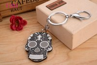 Wholesale Platinum Promotions - Skull head with New KeyChain Pendant Purse Bag Car Key Chain ring New Fashion Lover Gift Y103