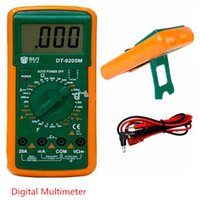 Wholesale Lcd Screen Digital Multimeter - Wholesale BEST DT 9205M Handheld LCD Screen Digital Multimeter With Buzzer DMM Meter for electrician tool Home appliance repair