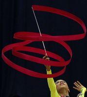 Wholesale Gymnastics Ribbon Stick - Rhythmic gymnastics ribbons wands sports dance long ribbons streamers sticks magic wands confetti Sporting Goods