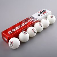 Wholesale Dhs Stars - New 1 Boxes 6Pcs 3 Stars DHS Tennis White Ping Pong Balls 2.8G Table Tennis Balls Professional Free Shipping