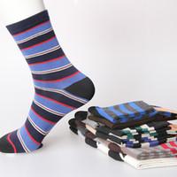 Wholesale Cheap Sale Huf Socks - 2015 Sale Men Sock Athletic Fashionable Stripe Men's Socks High Quality Cotton Sport 10pairs lot Factory Sales Promotion Cheap Winter