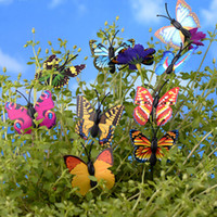 Wholesale Folk Butterflies - New Mini Insect artificial Butterfly sanimals ornaments miniatures for fairy garden gnome resin crafts bonsai bottle garden decoration