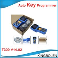 Wholesale Vw Fastest Car - Fast Free Shipping Multi-language T300 car key programmer 2017 Latest Version V16.6 T300 car transponder key for multi-brands
