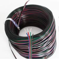 4pin kablo rgb toptan satış-200 M / grup 4pin kablo led accessaries 5050 3528 SMD RGB led şerit bağlamak için kullanın kablo