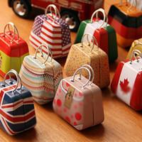 mode-displays großhandel-Neue Mode Handtasche Shaped Schmuckschatullen Verkäufe Durch Los Metallfarben Tragbare Schmuck Vitrinen Aufbewahrungsbox kostenloser versand