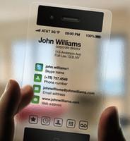 чистые визитные карточки оптовых-Индивидуальные ясно ПВХ визитная карточка / прозрачный пластик визитная карточка / ясно визитная карточка