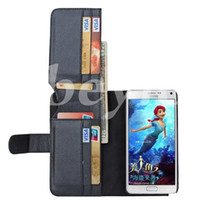 Wholesale Multi Function Id - Multi-Function Folding Wallet Stand Leather Case Cover W  7 ID Card Slots + Photo Frame for Samsung Galaxy Note5 S6 Edge Plus Note5 SGN5C16