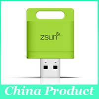 Wholesale Wireless Storage Reader - Zsun Wireless Wifi Card Reader Extended Phone Memory U Disk Mobile Storage USB Flash Drive For Android IOS Windows Phone 010073