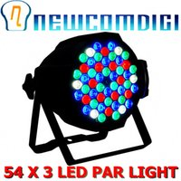 Wholesale Par Led Watts - Wholesale-Eyourlife Hot 2015! Free Shipping AlUMINUM ALLOY 1PCS DJ PAR 54 x 3W LED LIGHT 162 watt RGBW DMX PAR 64 STAGE LIGHTING