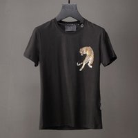 Tiger Printed 2018 New T-Shirts Mens 3D stampa cotone economici T Shirt Slim Casual Polo Shirts Cool Tee Top Uomo Camicie 18712