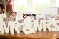 Wholesale Mr Rings - MR & MRS Letter Decoration White Color letters wedding and bedroom adornment mr & mrs Best Selling In Stock