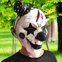 Schwarz und Weiß Scary Latex Halloween Horror Clown Party Maske Gesichtsmaske Party Maskerade Erwachsene Geistermaske Cosplay Kostüme