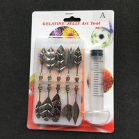Wholesale 3d Jelly Cake - DIY 3D Jelly Art Tool Stainless Steel Cake Flower Pudding Piping Mold Sturdy Resuable Gelatine Nozzles Set High Quality 13ty B