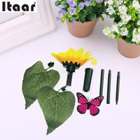Wholesale- Solar Butterfly Flower Toys svolazzanti Butterfly Garden Yard Decoration