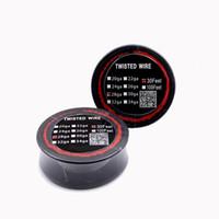 e sigara modu yeniden oluşturulabilir toptan satış-DHL Ücretsiz Twisted Tel Direnç Bobin 30 Ayaklar 24 26 28 30 Guage Isıtma Teller DIY Rebuildable RDA RBA E Sigaralar Için mods