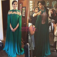 Wholesale Hot Celebrity Dresses For Cheap - Sonam Kapoor Celebrity Wedding Dresses For Arabic Women Hot Sale Cheap 2015 Dubai India Long Sleeves Abaya Lace Backless Plus Size Prom Gown