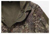 Wholesale Men Shark Skin Jacket - Fall-TYPHON TAD style Shark Skin Soft Shell Jacket Waterproof Hoodie Kryptek Style