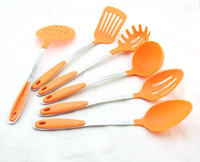 Wholesale Rubber Spatula Set - Best Durable Kitchen Cooking Tools Sets Cooking Utensils Sets Spoon Turner Spatula Souip Kitchen Utensils Sets zlnj-g