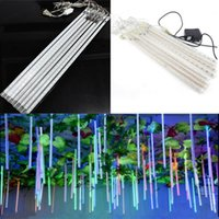 LED Meteor Shower Rain Tubes 30cm 8 Tube Christmas String Light Impermeável Home Garden Party Wedding Decoration EU / US Plug