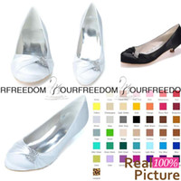 Wholesale Wedding Sparkly High Heels - 9001-03 Simple White Flats Weding Shoes Sparkly crystal Custom Made Bridesmaid Shoes Women Shoes Evening Prom Party Shoes High Quality