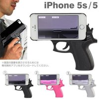 Wholesale Trends Cell Phones Cases - Gun mould phone case Innovation trend following pistol sheath Cell phone protection cover personality for Iphone 4, 5, 6