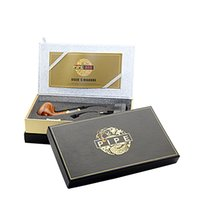 Wholesale E Cigarette Gift Boxes - Pipe 618 electronic cigarette e cigarette Single Kit E pipe 618 2.5ml Atomizer With 18350 Battery Wood Gift Box