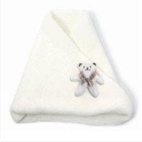 eşarp katmanları toptan satış-Toptan-Beyaz Sevimli Sıcak Ayı Bebek Önlüğü Yaka Katmanlı Kalın Eşarp 2016 Yeni