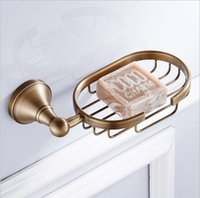 Wholesale Antique Dishes - Hot Sale New European Style antique Soap Basket Holder Brass Material Soap holder Bathroom Accessories Soap Dish Holder