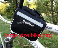 Wholesale Giant Bicycle Saddle Bags - Wholesale-Giant Mountain Bike Bag for Front Tube Road Fixie Bicycle Cycling Bag Saddle both sides Mobile Phone bycicle bags