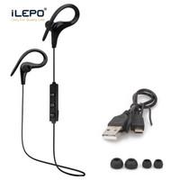 ücretsiz cep telefonu müziği toptan satış-S9 Kulak Kancası Spor Kulaklık HIFI Stereo Müzik Kulaklık Bluetooth Kulaklık Eller-Serbest Cep Telefonları Için Mikrofon ile