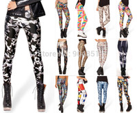 Wholesale House Leggings - New 2014 Women GOLDEN AGE GOTHAM'S MOST WANTED MONDRIAN RAINBOW BRIGHT 2.0 HAUNTED HOUSE 2.0 LEGGINGS Digital Printing Sexy Pant FG1510
