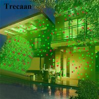 Wholesale sky spotlights - Wholesale- Trecaan Outdoor Led Laser Spotlight Light Waterproof Garden Lawn Light Sky Star Projector Landscape Garden Lights Christm