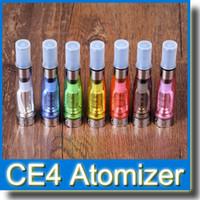 ego k e cig piller toptan satış-Fabrika fiyat Yeni Cartomizer CE4 Clearomizer renkli 1.6 ml EGO atomzier e çiğ Ego t Ego W Ego K pil ile mükemmel maç