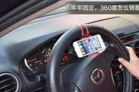 Wholesale Transmitter Bracket Holder - 100pcs a bag-car phone holder, steering bracket, steering wheel car phone holder